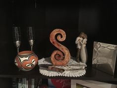 Acoma pottery as part of wedding display collection