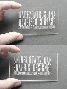 Transparent led lit business card should make people remember you transparent plastic laser cut business card reheart Images