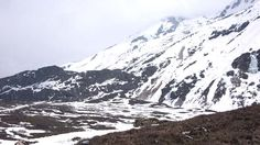 Check out the snow covered mountains on all sides of Yumesamdong (Zero Point)!