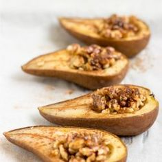 Cinnamon Baked Pears. They are super simple to make, take only five minutes of preparation, 25 minutes of baking, and always turn out great.