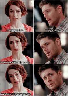"""""""I know. It's kind of your move."""" Dean never forgives himself for anything... - 10x11 There's No Place Like Home [gifset]"""