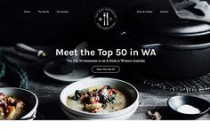The best of web design and web design inspiration - updated regularly with new designs and web designers, and featuring the best Wordpress Themes. Featuring WA Good Food Guide: Western Australia's Top 50 Restaurants Wordpress Website Design, Latest Design Trends, Minimal Design, Ui Design, Best Wordpress Themes, Web Design Inspiration, Worlds Of Fun, Cool Designs, Good Food