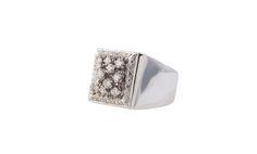 Fecarotta Antichità, anello oro 18 kt brillanti  #unique #jewellery #style #jewelry #Antique #coral #summer #diamonds #ring #gold #exhibition #artandcrafts #shoppinginsicily #visitsicily