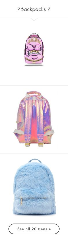 """""""🎒Backpacks 🎒"""" by issaxmonea ❤ liked on Polyvore featuring bags, backpacks, pink bag, tie dye bag, day pack rucksack, embroidered bag, summer bags, extra, pink and party bags"""