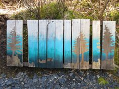 Spruce Cape Landscape  Ocean and sky ombre Custom Reclaimed Wood  by TheElegantArtist, $150.00