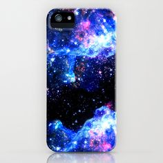 Galaxy designs are very popular right now because of the beautiful colors they express. This galaxy piece is especially beautiful because of the heavy contrast between the bright star colors and black space. The section of black through the middle works perfectly in making the blues and purple on either side appear even more vibrant.