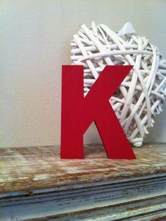 Freestanding Wooden Letter 'K'   25cm  Ariel by LoveLettersMe, £9.95