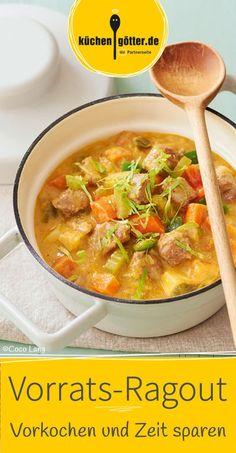 Wenn du in der nächsten Zeit nicht dazukommst zu kochen, dann haben wir genau das Richtige: Ragout vorkochen und portionsweise einfrieren.