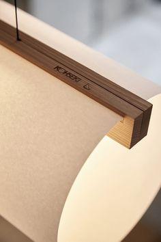 ENSO lamp series design Lars Vejen for Japanese manufacturer KOHSEKI based in Kyoto, Japan Interior Lighting, Home Lighting, Modern Lighting, Lighting Ideas, Led Light Design, Lighting Design, Curved Floor Lamp, Wood Floor Lamp, Floor Lamps