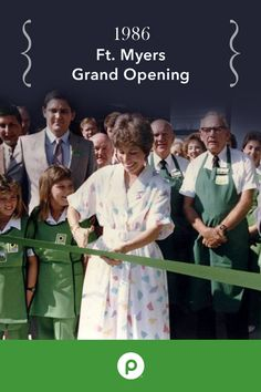 New store openings are always an exciting time! For 86 years we have been hosting Grand Openings to introduce customers to our Publix family. This was the grand opening for Publix Store #105 in Ft. Myers, Florida. This store opened on April 3, 1986.