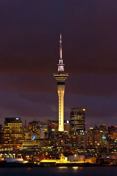 Skyline of Auckland featuring the Sky Tower (the tallest free-standing structure in the Southern Hemisphere), Auckland, New Zealand New Zealand Cities, New Zealand North, Auckland New Zealand, Places Around The World, Travel Around The World, Around The Worlds, Vanuatu, Tonga, Papua Nova Guiné