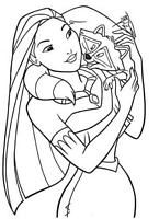 kolorowanki Pocahontas Disney, malowanki do wydruku numer  25