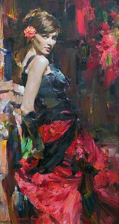 Michael & Inessa Garmash - Dancer in Red and Black