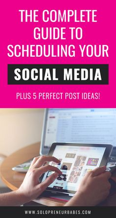 How To Schedule All Your Social Media