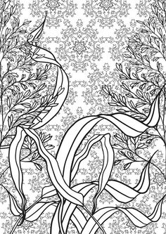 Adult Coloring Pages Colouring Grass Tree Leaves Flower Bollywood Gardens Mandalas