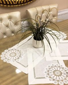 We continue to grow our products with innovations. - Home Decor Shabby Chic Material, Innovation, Crochet Table Runner, Backyard Patio Designs, Crochet Motifs, Hardanger Embroidery, Handbag Patterns, Bargello, Table Covers