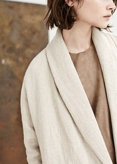 PREMIUM - Linen coat
