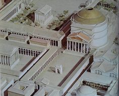 Maqueta de Roma conel Panteon (Reconstruction)
