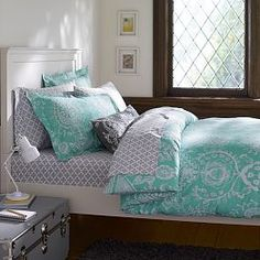 New room for Maggie? Girls Dorm Duvet Covers & Dorm Room Bedding for Girls | PBteen