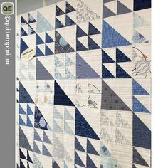 "542 Likes, 6 Comments - Moda Fabrics/United Notions (@modafabrics) on Instagram: ""True Blue by Zen Chic - @zenchicmoda - and Cake Mix Recipe 1! We love this terrific quilt made by…"""
