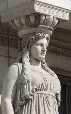 the famous 5th century BC caryatids from the Acropolis of Athens have inspired countless replicas and variations around the world - eg. Chicago Field Museum Caryatid Type II | Flickr - Photo Sharing!