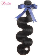 Satai Brazilian Body Wave Natural Color 8-28 inch Hair Bundles 100% Human Hair Weaving Remy Hair 1 Bundle Only //Price: $35.82 & FREE Shipping //     #hairextension #style #beauty #woman #love