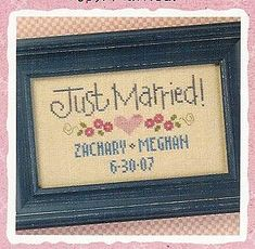 Just Married Cross Stitch Pattern