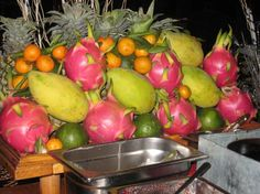Colorful fruits in Vietnam