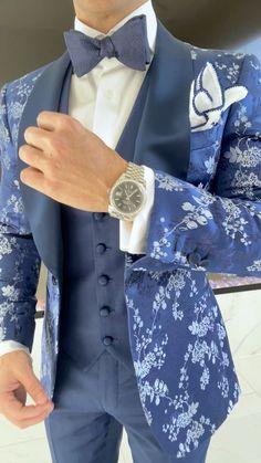 Gentleman Style, Gentleman Fashion, Nigerian Men Fashion, Designer Suits For Men, Stylish Mens Fashion, Groom Attire, Groom Style, Blazers For Men, Suit And Tie