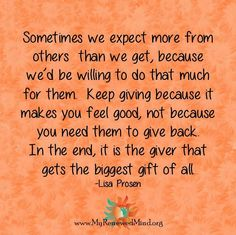 Give to others...