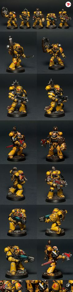 40k - Imperial Fists Squad by Totem Pole