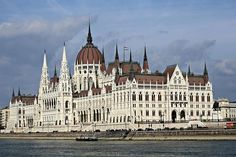 The Hungarian parliament building from the Danube. #Budapest.