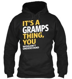 Gramps Thing Black T-Shirt Front