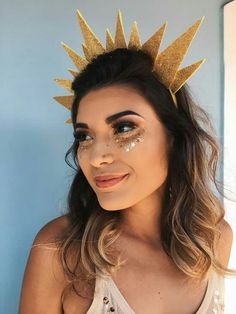 Most current Pictures Ideas for carnival costumes. Popular Ideas for carnival costumes. Halloween Costumes For 3, Carnival Costumes, Diy Costumes, Costumes For Women, Halloween Makeup, Halloween Ideas, Pinterest Halloween, Sun And Moon Costume, Halloween Kleidung