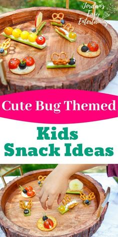 These cute bug themed kids snack ideas are so perfect as a backyard camping idea, or if you are throwing a summer backyard birthday party for kids! You'll also find lots more fun ideas for kids during the at-home summer camp series