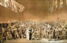 A tennis court was the first official meeting place of the French Revolution. Members of the Third Estate (the masses)—the clergy and nobility made up the First and Second Estates, respectively—gathered on June 20, 1789, on a tennis court near the Palace of Versailles after being locked out of a meeting of the Estates-General. Here they formed the National Assembly and took the Tennis Court Oath. This was also the first time French citizens publicly opposed King Louis XVI.