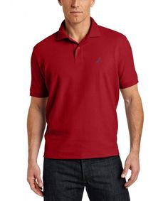 Nautica Men's Big & Tall Solid Deck Polo Shirt Nautica big and tall solid deck polo shirt is your go-to shirt for any occasion. Go casual with jeans, wear Polo Shirts With Pockets, Short Sleeve Polo Shirts, Men's Shirts, Mens Big And Tall, Big & Tall, Mens Back, Pique Shirt, Deck, Mens Tops