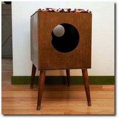 Mid Century Modern Cat Furniture & Litter Box Cover - Small by modernistcat on Etsy