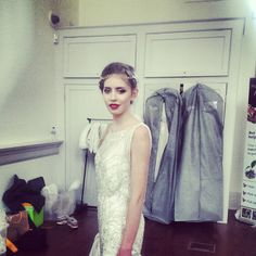 Dress Jenny Packham Esme.  Headdress Hermione Harbutt Fiori  Our gorgeous model Florence