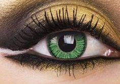 Vivid Green Colour Contact Lenses, Vivid Green Colour Lens | EyesBright.com