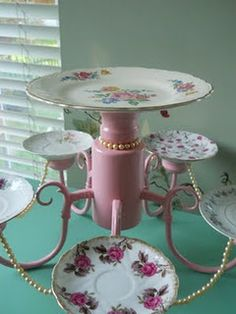 Chandelier turned dessert tray...!