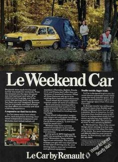 "#Renault ""Le Weekend Car"" Advert from (1978)   Take a look at our range of Renaults at http://www.hartwell.co.uk/new-cars/renault"