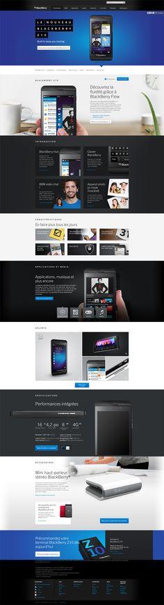 Blackberry Z10 website