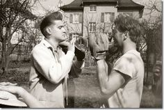 Elvis Presley with Red West........ 'Wish Red would have continued being a friend.