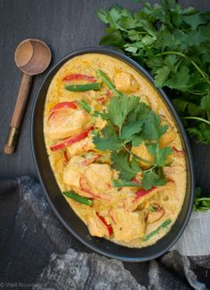 Well Nourished ⎮Healthy Salmon and Vegetable Curry - This healthy Salmon & Vegetable Curry takes 15 minutes to prepare & cook and is the most delicious way to eat salmon. It's a fast, nourishing family meal.