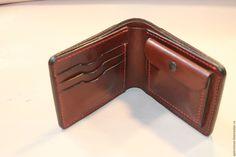 Купить Мужской кошелек классический - коричневый, кошелек, кошелек из кожи, кошелек ручной работы