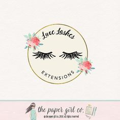 lashes logo design false lashes logo lash by ThePaperGirlCo