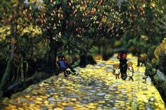 Art student revitalizes Van Gogh's work with tilt shift photography. Nothing is added or redone, it's all the magic of photoshop.