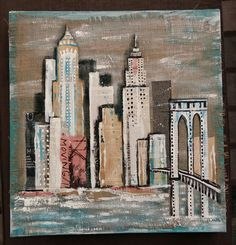 Skyline collage 50x50