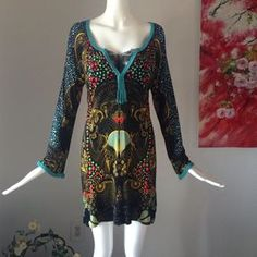 "Custo Barcelona dress Great condition. No flaw. Underarm width 17.5 shoulder to hem 32.5"" Custo Barcelona Dresses"